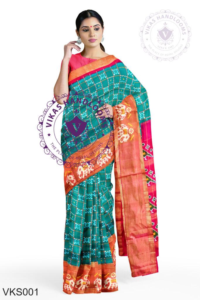 Pochampally Designer Ikat Handloom Sarees