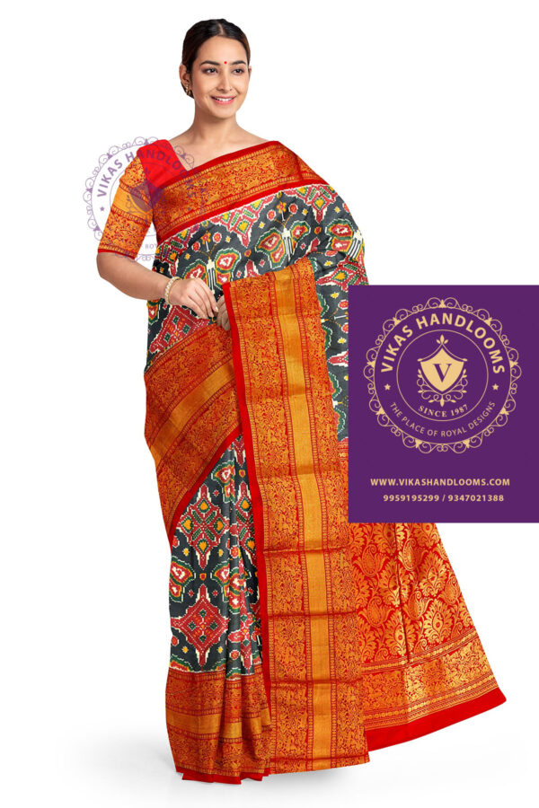 pochampally ikkat kanchi pattu saree