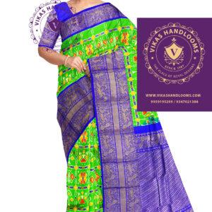 Pochampally Ikat all over kanchi saree