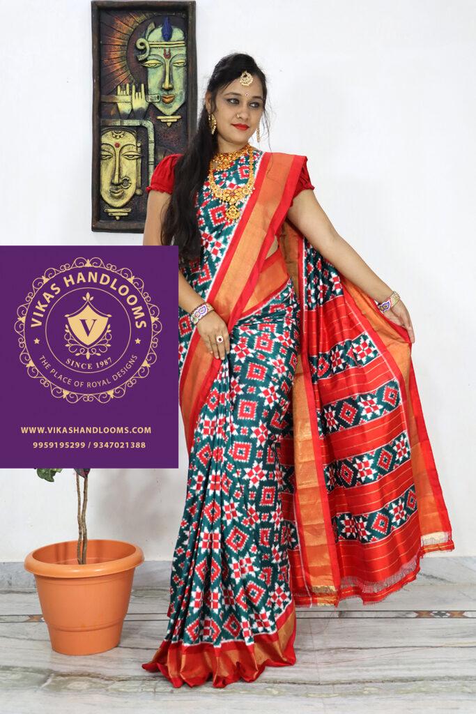 Double ikat sarees online