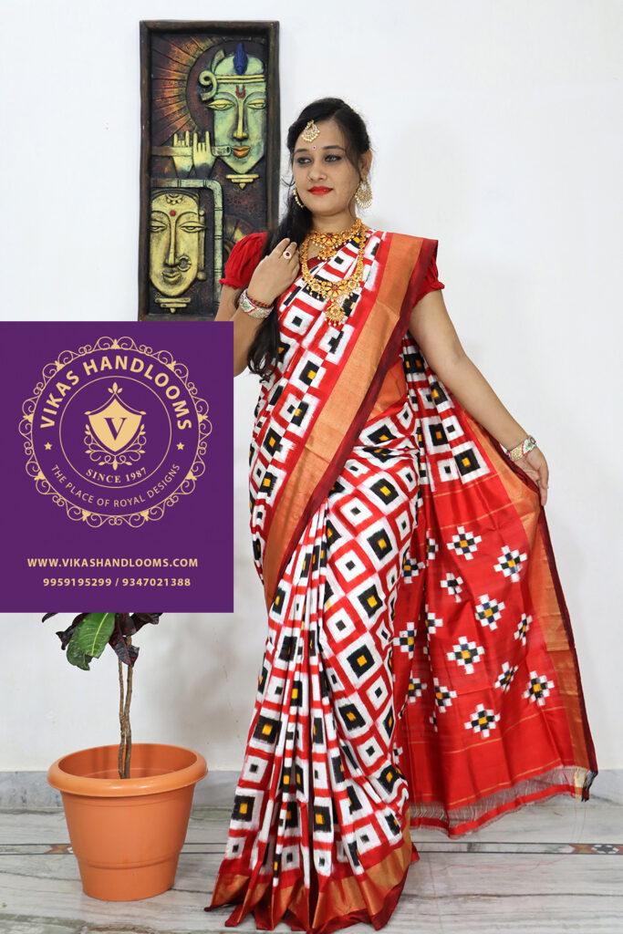 pochampally double ikat saree