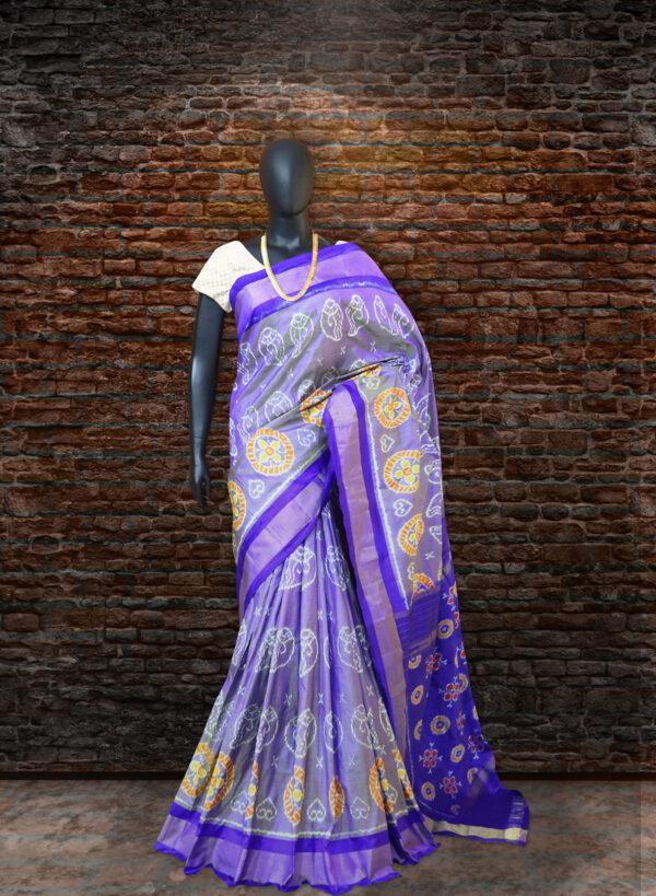 Pochampally ikat floral design sarees