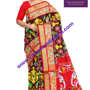 designer full ikat saree