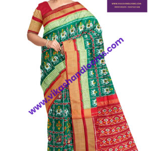 designer ikat border saree