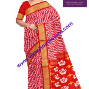 designer ikat floral saree