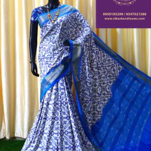 ikat allover full design saree