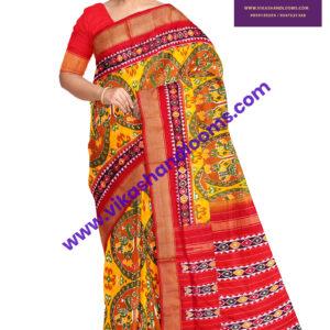 ikkat allover full designs latest saree