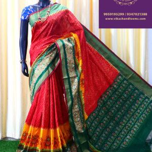 Ikkat full design trend saree