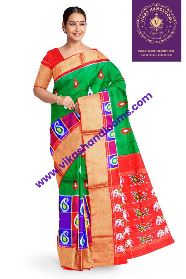 ikkat latest new designer saree